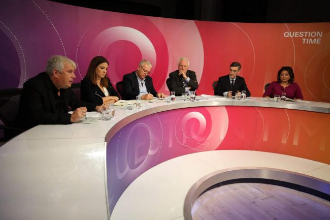 No pro-EU MEP has appeared on Question Time since the start of 2010