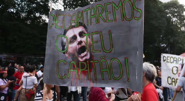 Protests against Jair Bolsonaro on issues such as pension reform have been held in Brazil