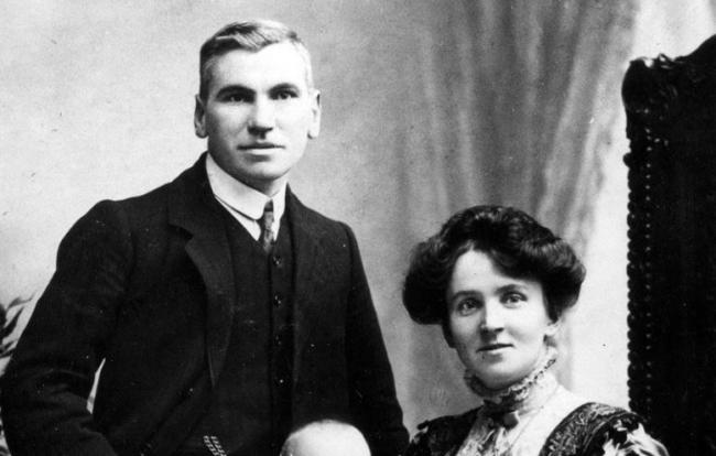 John Maclean with his family