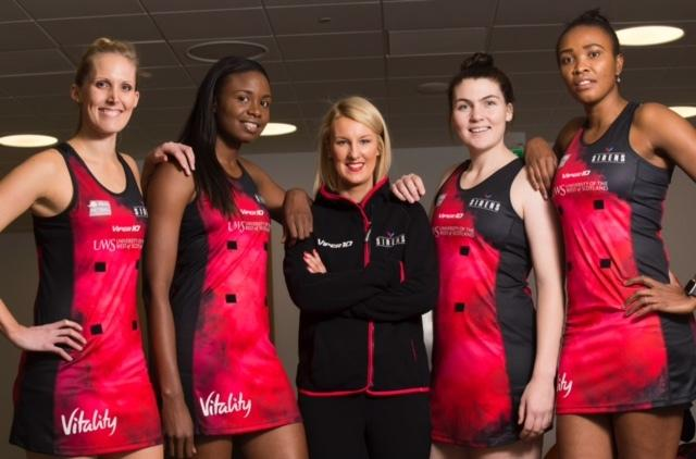Netball Scotland CEO Claire Nelson, centre, and the Scottish Sirens are among those to do fantastic work in the community