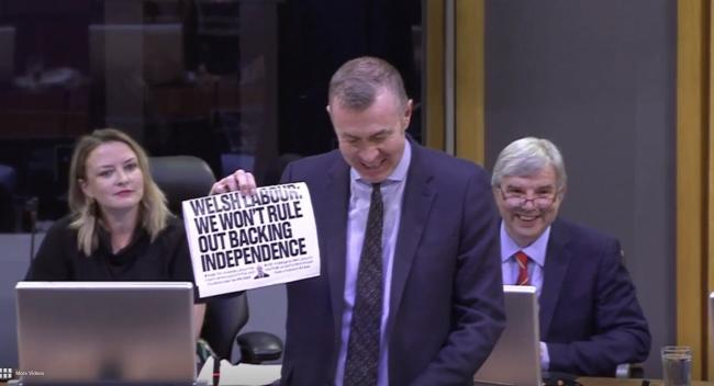 Plaid Cymru leader Adam Price held up a copy of The National at the Welsh Assembly this week