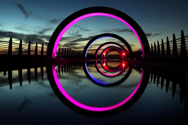 The Falkirk Wheel is thought to have helped the winning vote. Photograph: Andrew Milligan