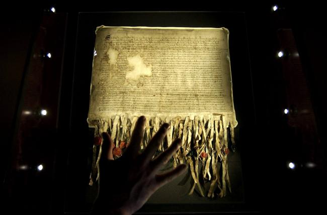 The Declaration you will see is one of three copies that were made in 1320