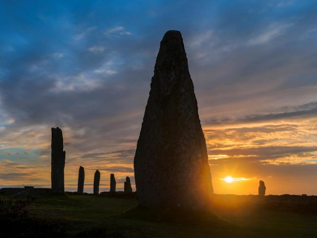 Ring of Brodgar. part of the UNESCO world heritage site Heart of Neolithic Orkney. Photograph: Martin Zwick