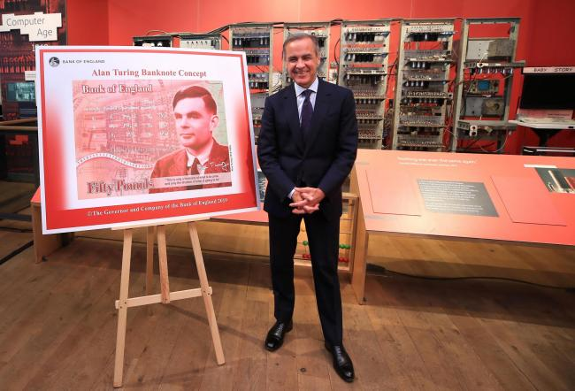 Mark Carney revealed the design and called Alan Turing a 'giant on whose shoulders many now stand