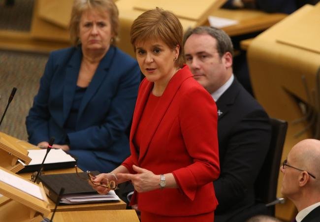 Will Nicola Sturgeon go for it? Photograph: Gordon Terris