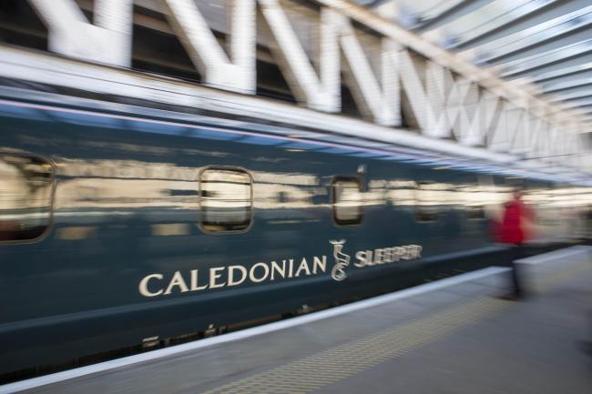 The Caledonian Sleeper service overshot its platform