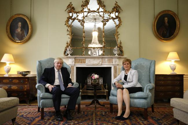 Nicola Sturgeon and Boris Johnson met in Edinburgh for their first face-to-face talks