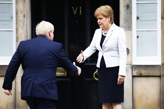 First Minister Nicola Sturgeon met with new Prime Minister Boris Johnson on his first visit to Scotland
