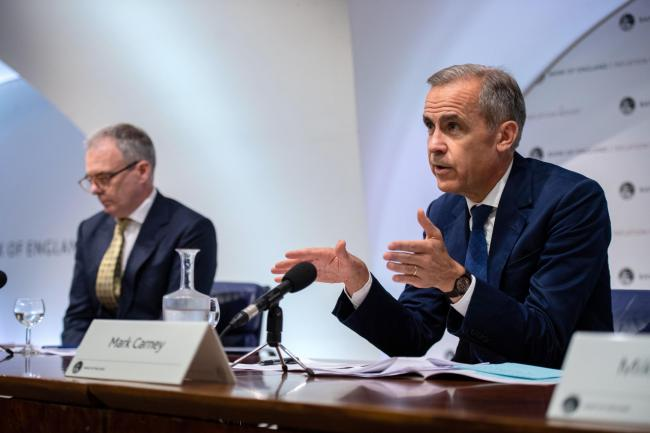 Mark Carney warned of a further decrease of the pound in the long-run