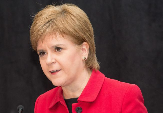 Nicola Sturgeon spoke at a Ted conference