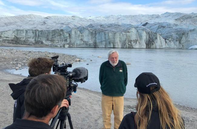 TO GO OUT AT 1100Undated handout photo issued by Extreme E of ProfessorPeter Wadhams in south west Greenland, around the Russell Glacier, which is near the settlement of Kangerlussuaq, he has warned that the ???decaying??? of the Greenland ice sheet ri