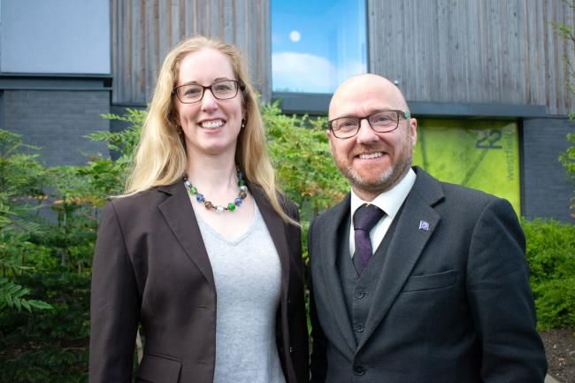 Lorna Slater and Patrick Harvie are the Scottish Greens co-leaders