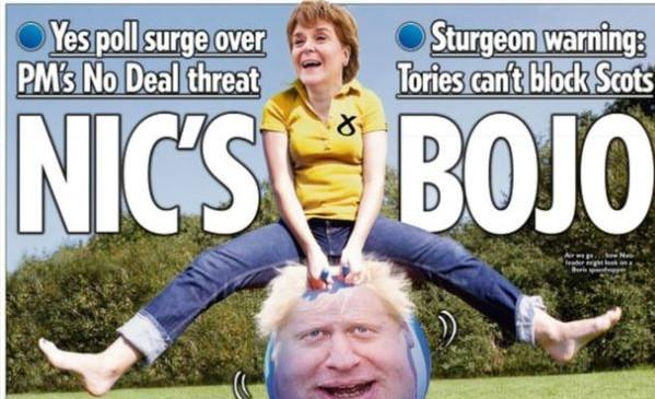 The Sun went for 'Nic's BoJo bounce'