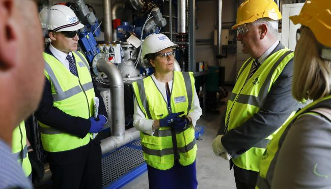 First Minister Nicola Sturgeon visited the project in Stirling