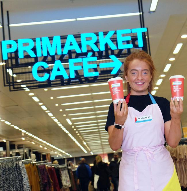 Kayleigh McCormack is a barista at Scotland's first Primark store café at intu Braehead..