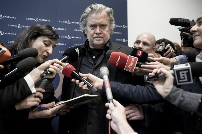 Steve Bannon blamed the radical left for a rise in racism