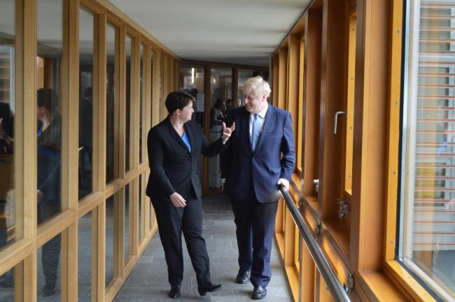 Ruth Davidson told of her hopes for PM Boris Johnson