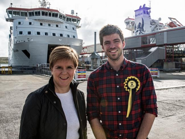 Nicola Sturgeon joined Shetland by-election candidate Tom Wills on the campaign trail