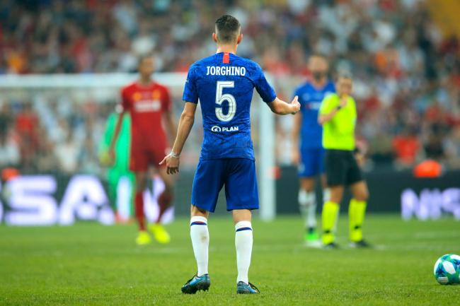 Chelsea's Jorginho had his name spelled incorrectly on his shirt for the Super Cup in Istanbul