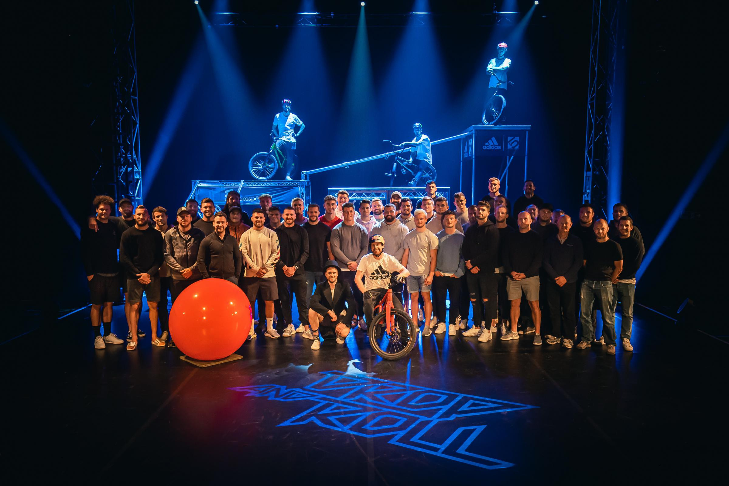 Scottish Rugby stars take in Danny MacAskill's show at Fringe Circus Hub
