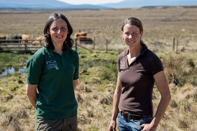 Lynn Cassells and Sandra Baer, who were appointed as sustainable, low-carbon farming champions by the Scottish Government earlier this year