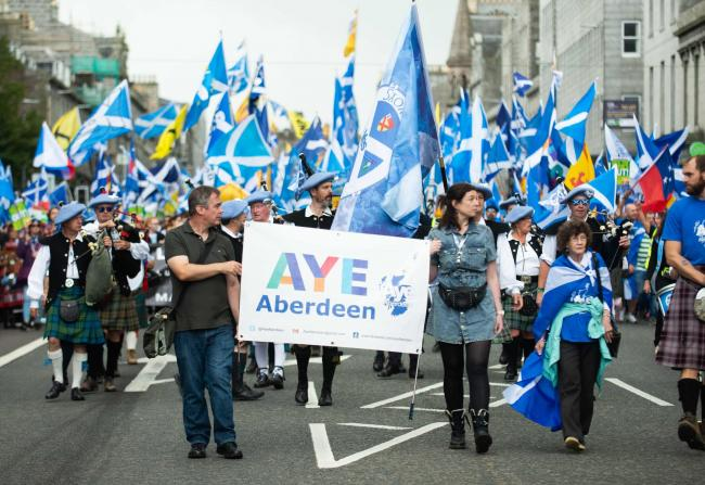 People came from across Scotland to take part in the AUOB march