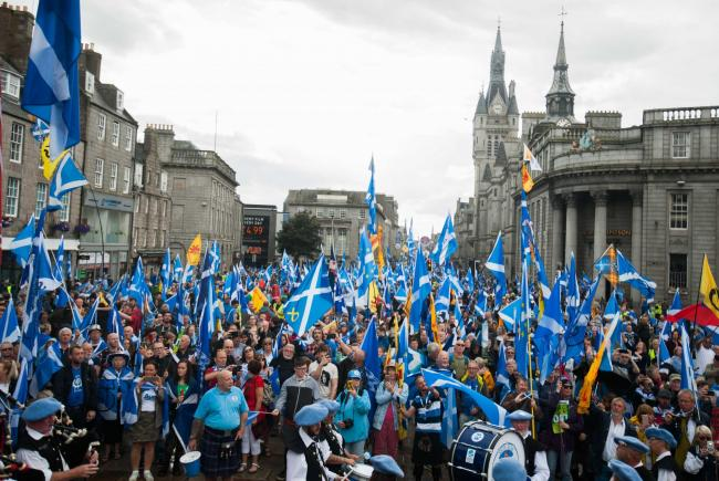 Independence supporters filled the whole of Union Street last Saturday