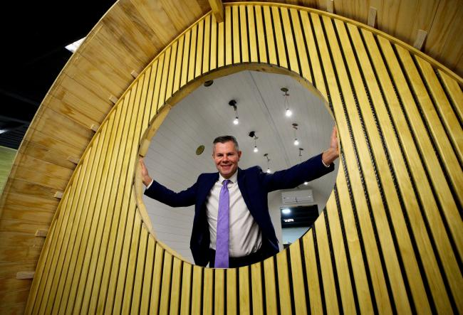 Derek Mackay was answering questions from journalists during a visit to glamping pod firm Armadilla