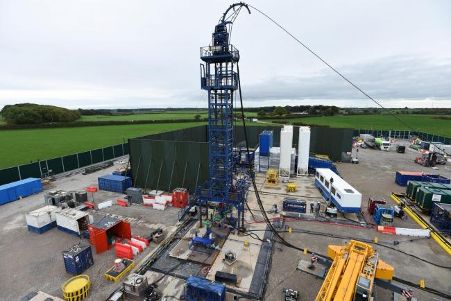 The Cuadrilla hydraulic fracturing site at Preston New Road