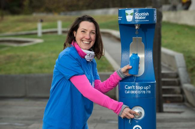 Nicole Wright, Director of Edinburgh Run Tours, who uses Holyrood Park - close to Scotland's first Top Up Tap at the Scottish Parliament - every day with her visiting running guests..
