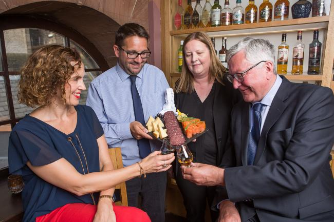 Rural Economy Secretary Fergus Ewing, right, with Fiona Richmond, Scotland Food & Drink chief executive James Withers and Wendy Neave