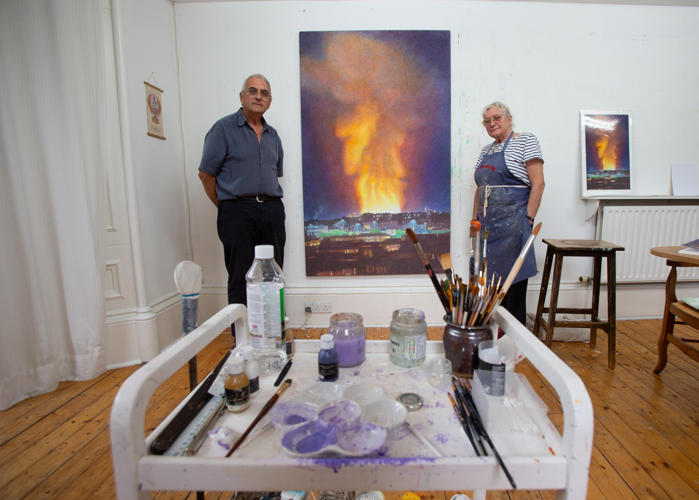 Mackintosh artists paint Glasgow School of Art fire as angry protest
