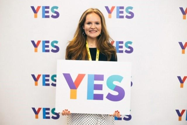 Robyn was not old enough to vote in 2014 – but she did her part for the indy cause