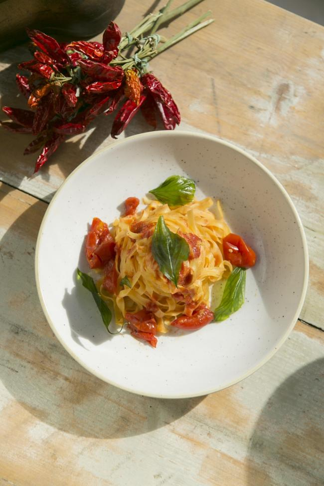 Pasta With Quick Sugo. Photograph: Gerardo Jaconelli