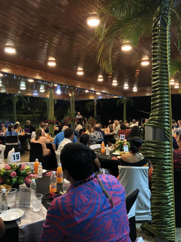 The National: Last month's anniversary dinner in Samoa