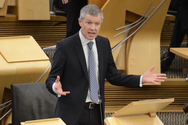 Scottish LibDem leader Willie Rennie in the Scottish Parliament