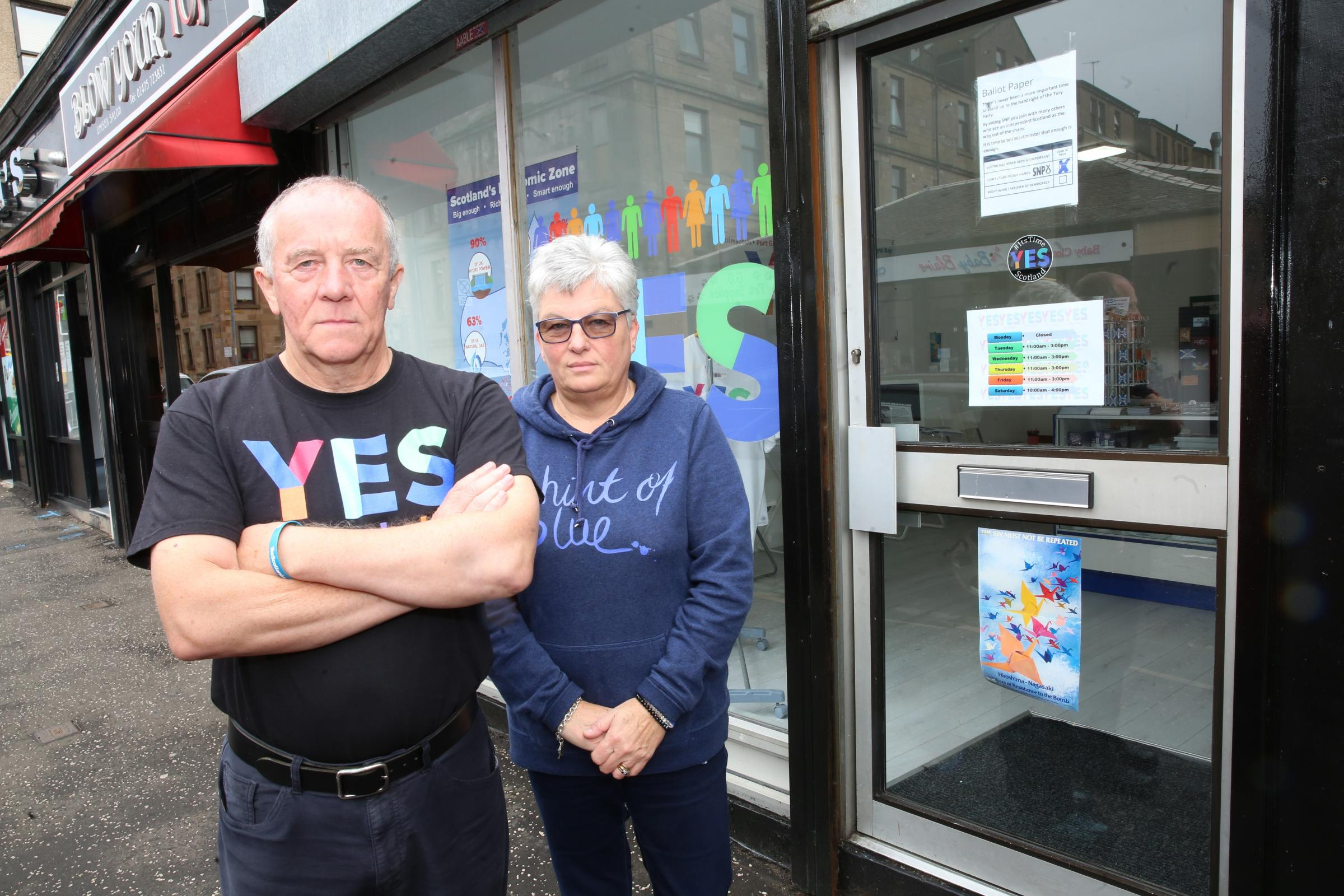 Human faeces smeared over Yes shop in sickening attack