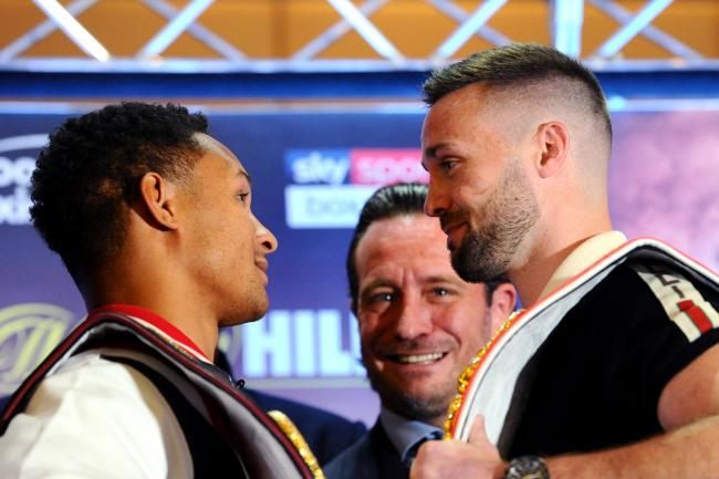 Regis Prograis and Josh Taylor, face-off after speaking to the media in the lead up to the WBSS Super-Lightweight Ali Trophy Final. Picture: Getty