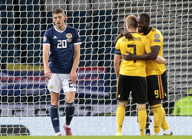 Ryan Christie battled hard as Scotland came up well short against Belgium at Hampden.