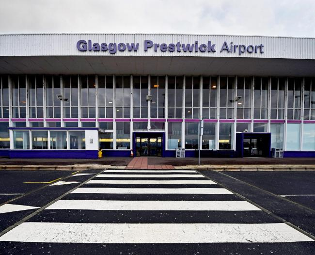 PRESTWICK, SCOTLAND - FEBRUARY 25:  A general view of Prestwick Airport on February 25, 2015 in Prestwick, Scotland. The Scottish Government has been accused of hiding the true cost to the tax payer for buying Prestwick Airport after they kept secret the