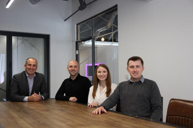 CEO Grant Fraser, left, with Digitonic's senior leadership team