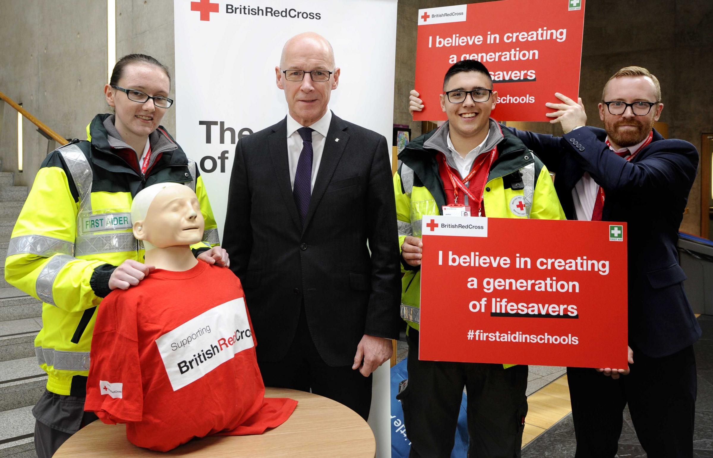 John Swinney launches Scottish schools first aid programme