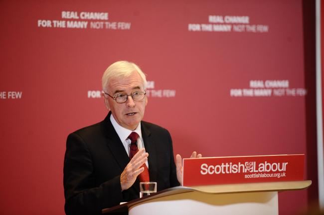 Labour's Shadow Chancellor John McDonnell said Scotland would be £3bn better off with Labour