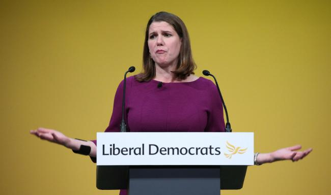 Jo Swinson made a bizarre assertion about the SNP's election campaign tactics