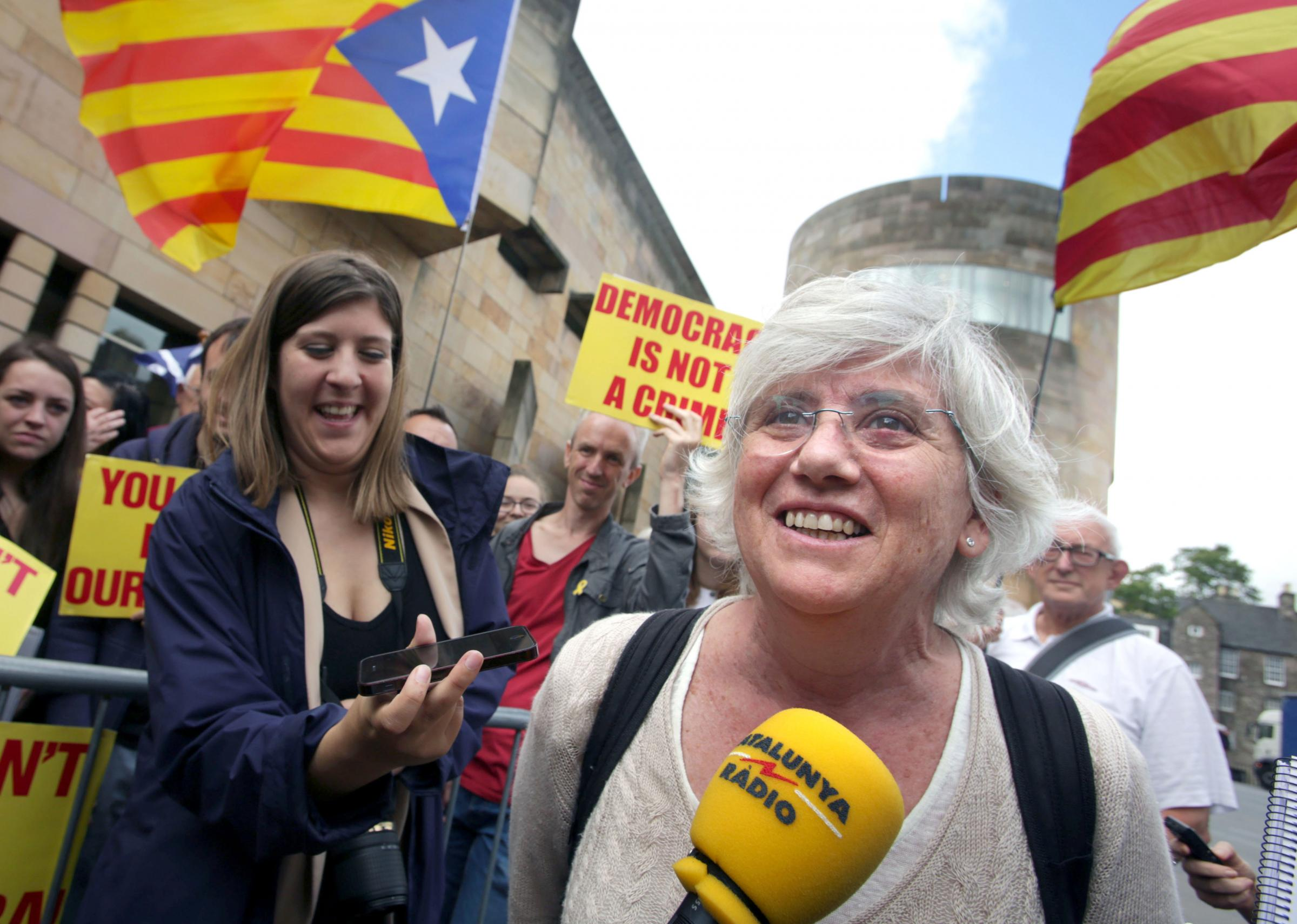 Clara Ponsati backs Catalan civil disobedience push