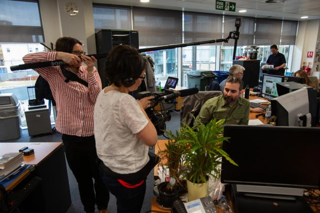 The team filmed National and Herald staff from September to March