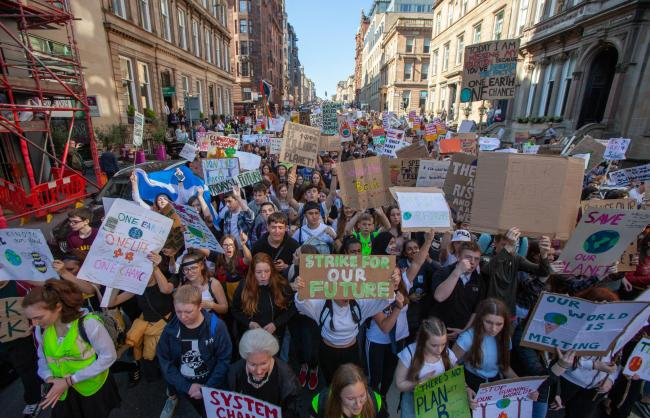 Young climate strikers have drawn attention to the need for urgent action. Photograph: Colin Mearns