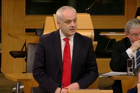 The National: Green MSP Mark Ruskell speaking during a debate at Holyrood