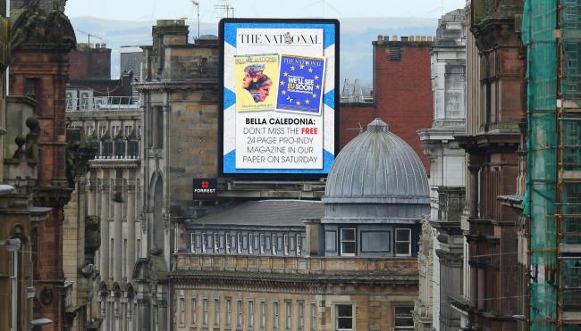 Look out for the adverts in Glasgow over the coming weeks